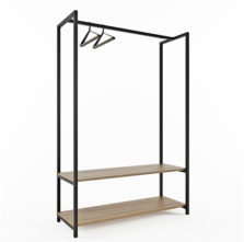 Hanger for Clothing with Two Shelves
