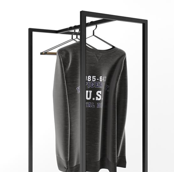 Clothes Rack Cube 1800 2 Shelves