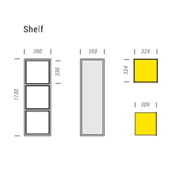 Стеллаж INFRAME 3×1