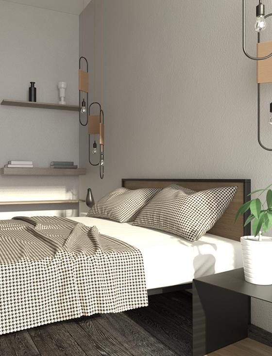 Дизайнерская кровать фото
