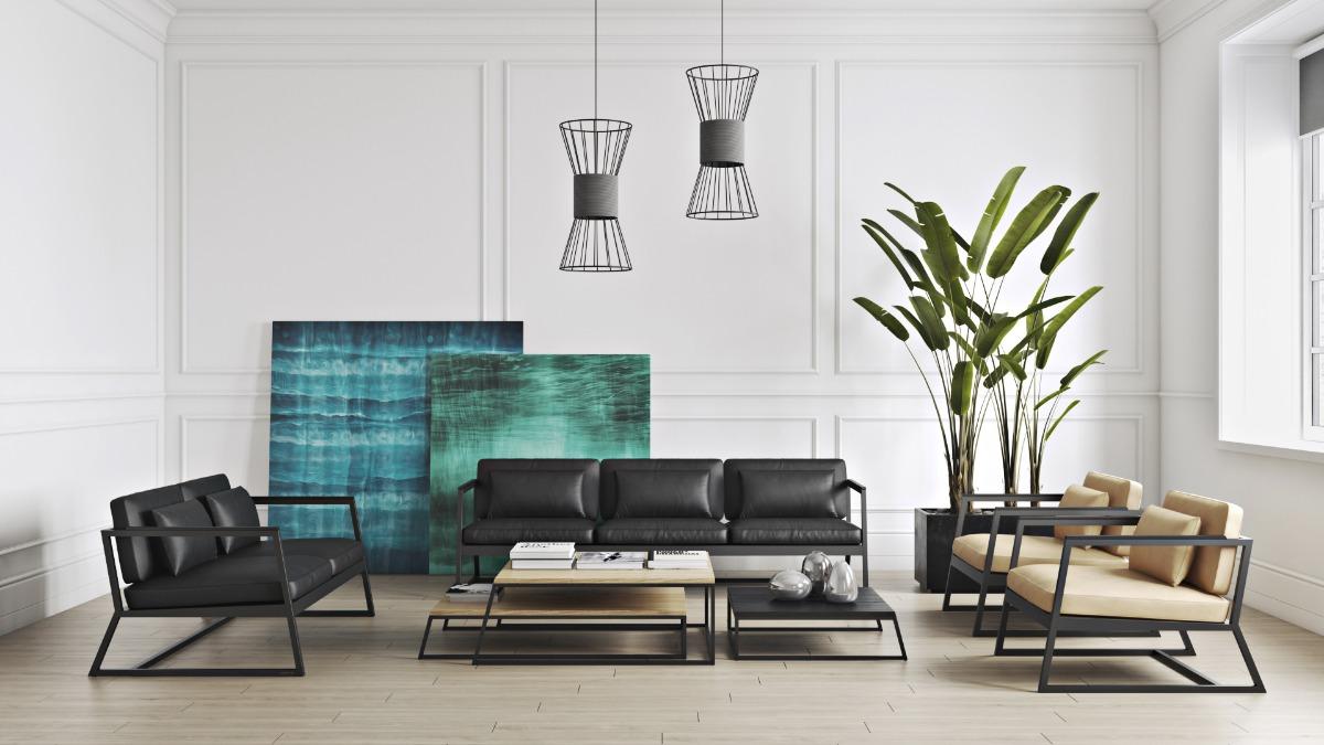 Мебель в кафе: гармония черно-белого минимализма